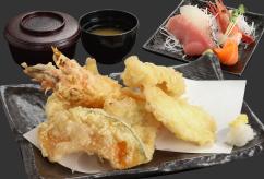 前浜 天ぷら刺身定食