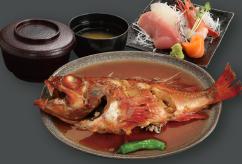 前浜 煮魚刺身定食